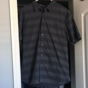 Oakley striped collard shirt